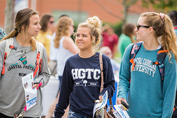 Students in CCU & HGTC apparel.